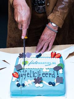 Oprichting Fietsmaatjes Katwijk taart